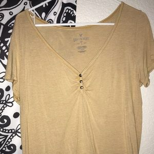 American eagle soft and sexy button up t shirt
